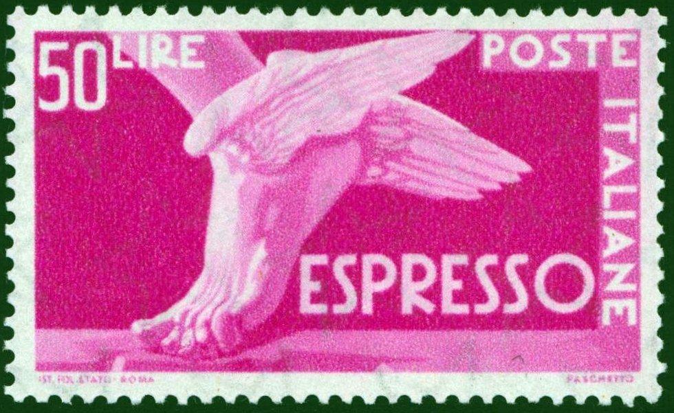 Lire 50 Espresso fil. Stelle nuovo MNH