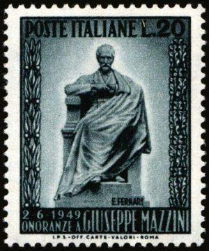 1949 Lire 20 Mazzini nuovo MNH