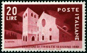 1949 elezioni a Trieste Lire 20 nuovo MNH
