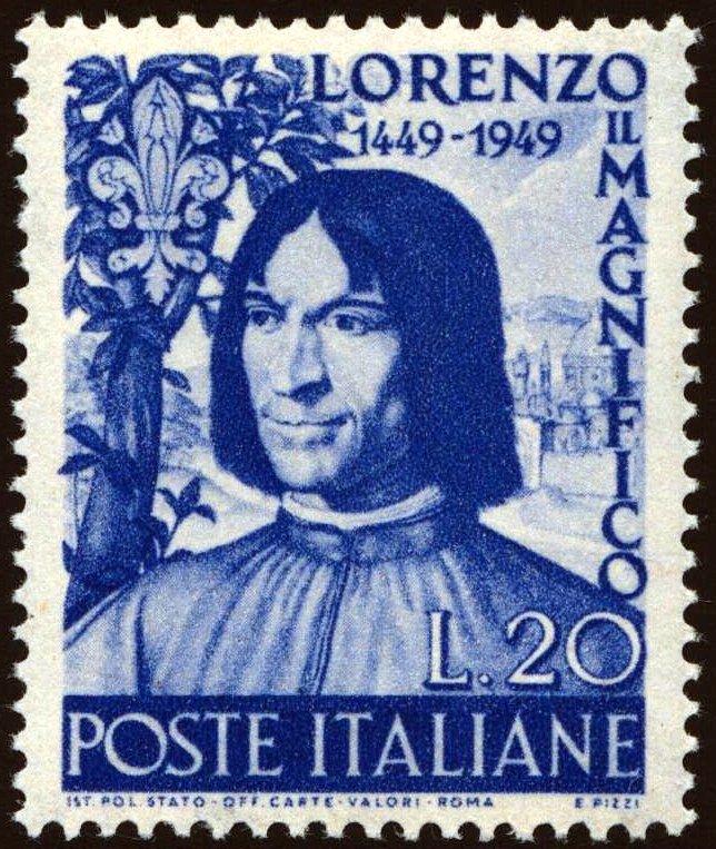 1949 Lorenzo il Magnifico nuovo MNH