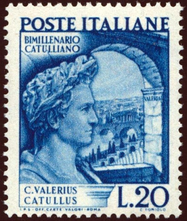1949 Morte di Catullo MNH