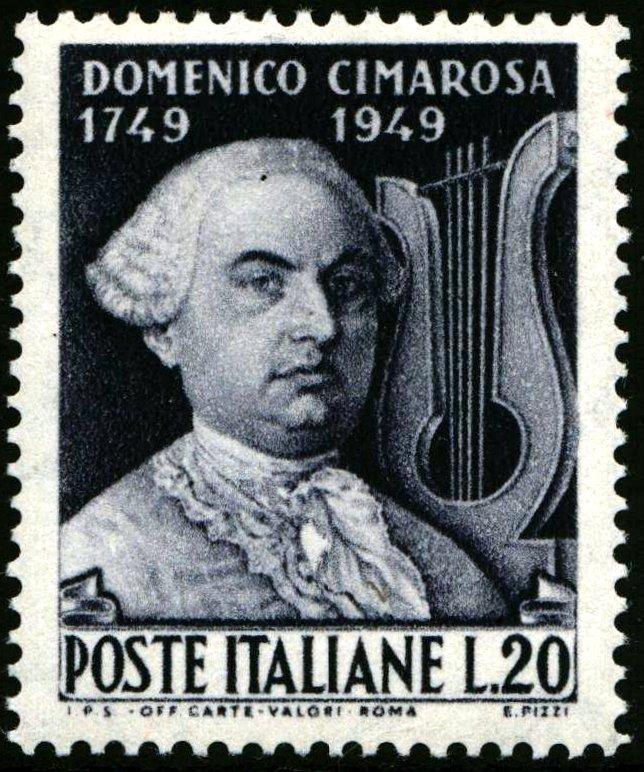1949 Lire 20 Cimarosa MNH