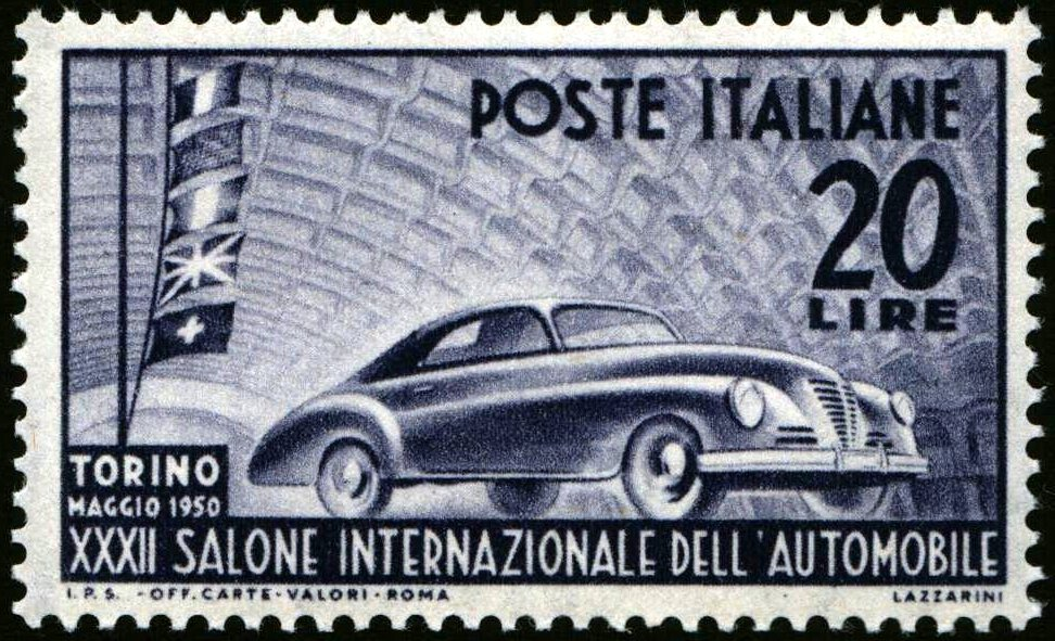 1950 Salone auto Torino nuovo MNH