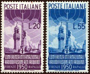 1950 Radiodiffusione nuovi MNH