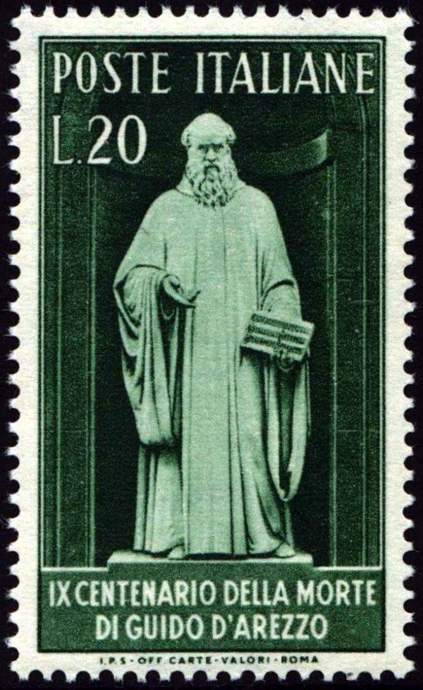 1950 Guido d'Arezzo nuovo MNH
