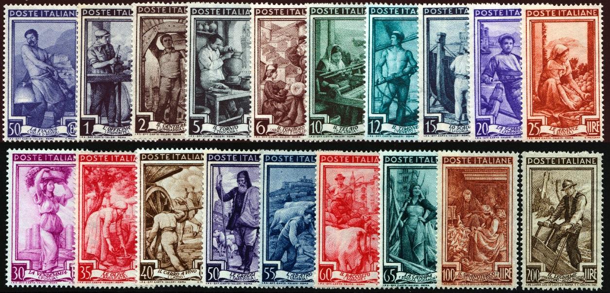 1950 Italia al Lavoro nuovi MNH