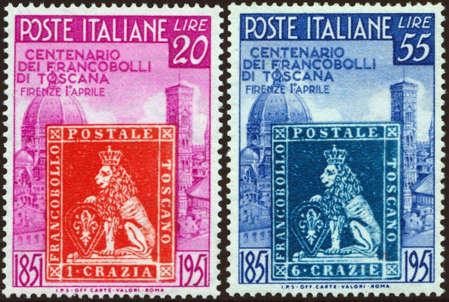 1951 Toscana nuovi MNH
