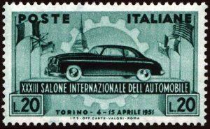 1951 salone auto Torino MNH
