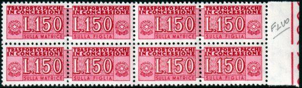 Lire 150 Pacchi Concessione fluorescente
