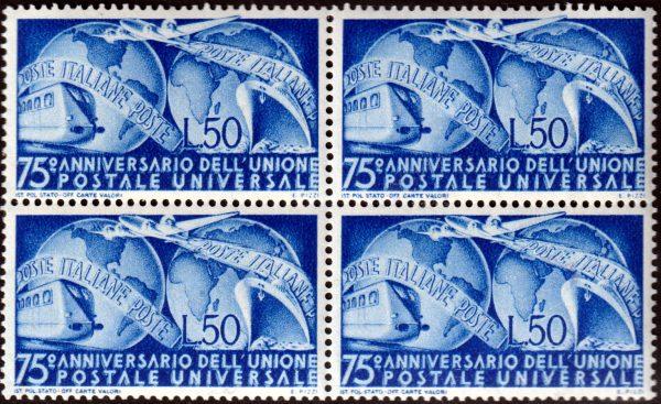1949 UPU quartina MNH