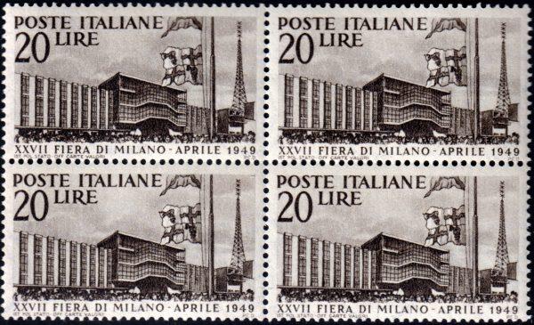 1949 Fiera di Milano quartina MNH