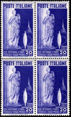 1951 Arte Tessile quartina MNH