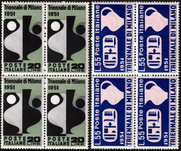 1951 Triennale quartine MNH