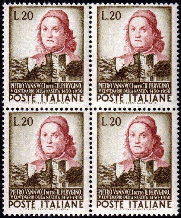 1951 Il Perugino quartina MNH