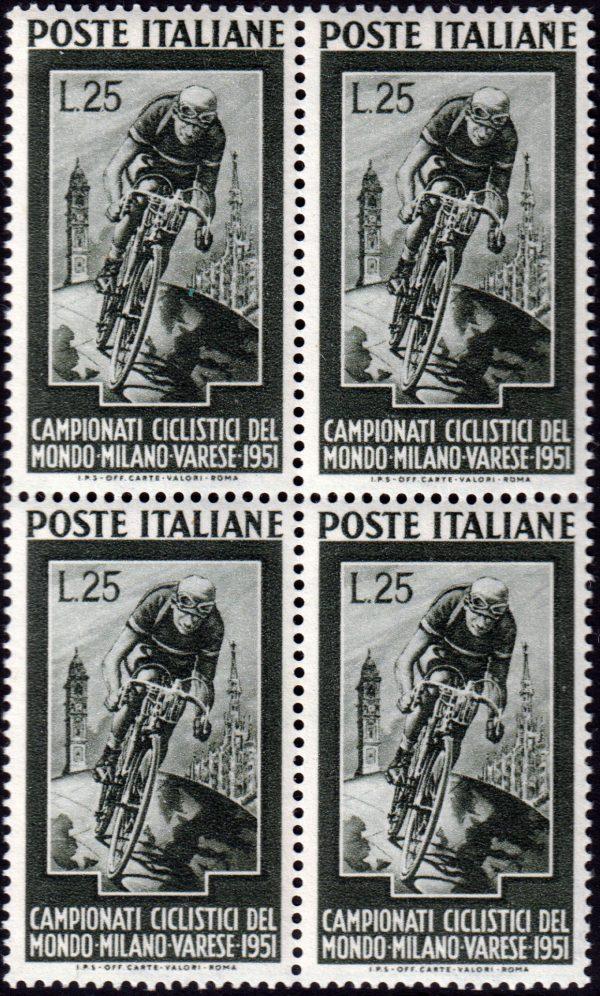 1951 Ciclismo quartina nuova MNH