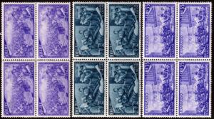 1948 Risorgimento quartine MNH
