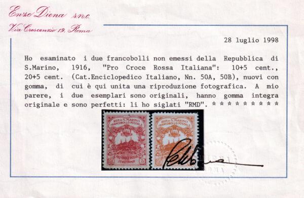 1916 San Marino Croce Rossa - non emessi