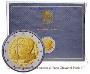 Vaticano 2020 100° nascita di Giovanni Paolo II FDC