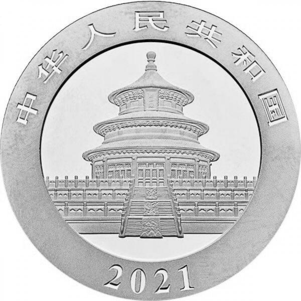 Cina2021 Panda argento