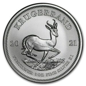 Sud Africa 2021 Kruggerand oncia argento