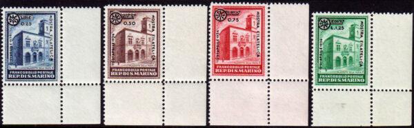 1934 - Fiera Milano (MNH) nn.180/183 Bolaffi