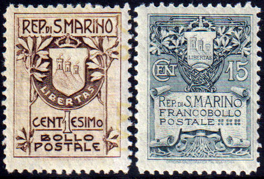 1907 Stemmi (MNH) nn.47/48