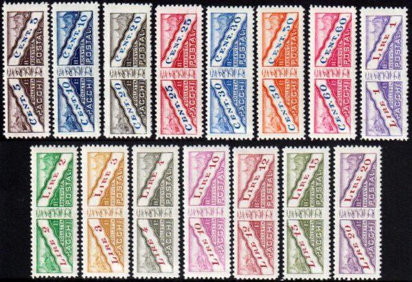 1928 Pacchi Postali MNH nn.1/15