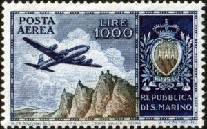 1954 Posta aerea Lire 1000 MNH n.112