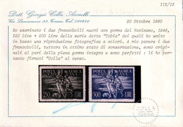 1948 - Tobia - nuovi MNH - nn.16/17 Colla