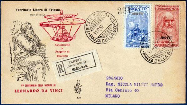 Trieste AMG-FTT - Busta FDC Venetia