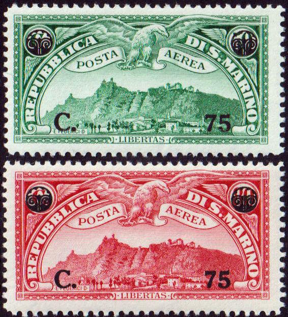 1936 Posta Aerea soprastampati MNH n.17/18