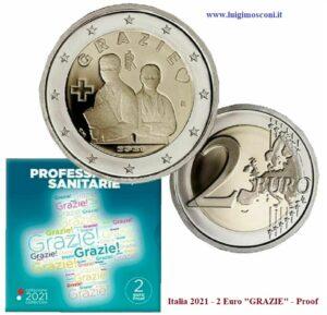 Repubblica 2021 2 Euro Proof GRAZIE