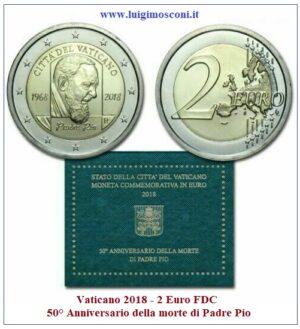Vaticano 2018 - Padre Pio 2 euro FDC