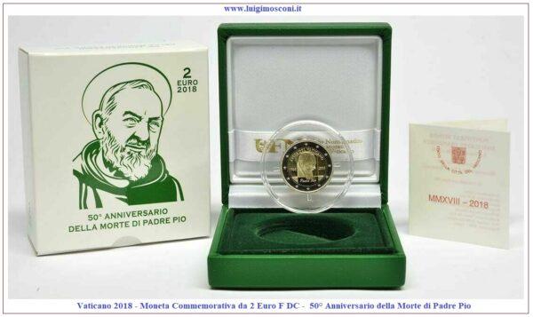 Vaticano 2018 - Padre Pio 2 euro PROOF