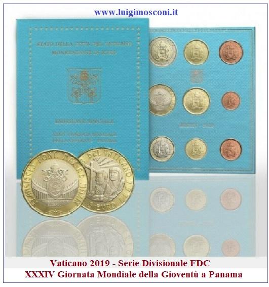 Vaticano 2019 - Divisionale FDC