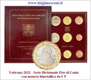 Vaticano 2021 con5 euro FDC