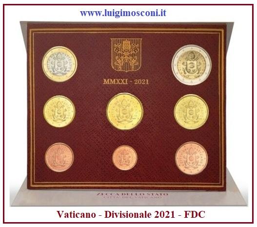 Vaticano Divisionale 2021 FDC