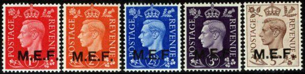 1942 - MEF - nn.1/5 nuovi (MNH)