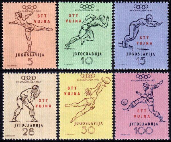 1952 - trieste B HElsinki - MNH
